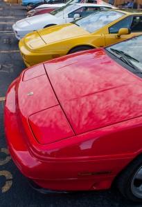 Three Lotus cars