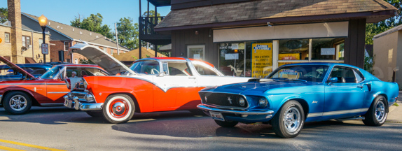 1955 Crown Vic & 1969 Mustang